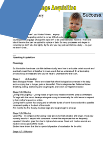 Preview of Child Language Acquisition - A Level Revision Book