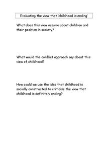 Preview of children essay plan