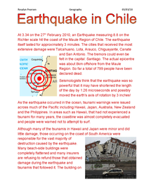 Preview of Chile Earthquake Case Study: Geography