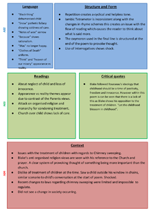 Preview of Chimney Sweeper Experience version basic revision guide