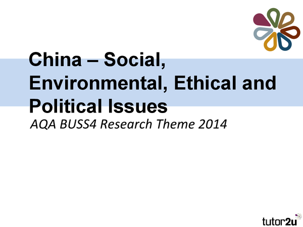 Preview of China - Ethical And Environmental Issues