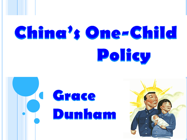 Preview of China's One Child Policy