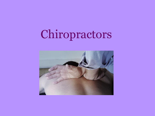 Preview of Chiropractor- Scientist At Work