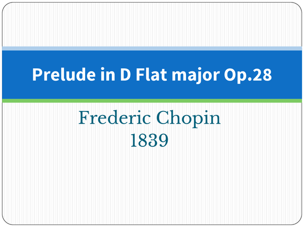 Preview of Chopin Raindrop Prelude Power point