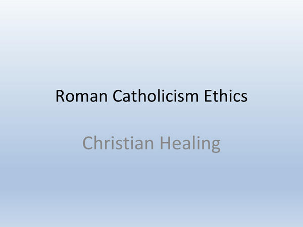 Preview of Christian Healing - Topic 5