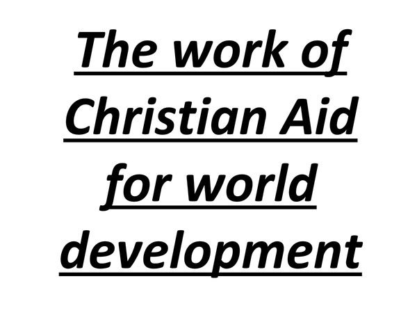 Preview of Christian Aid