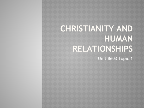 Preview of Christianity and Human Relationships