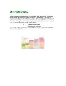 Preview of Chromatography