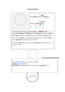 Preview of Circle Formula