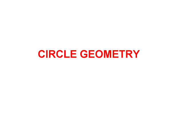 Preview of Circle Geometry