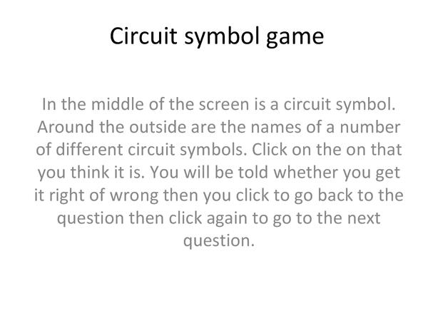 Preview of Circuit symbol game