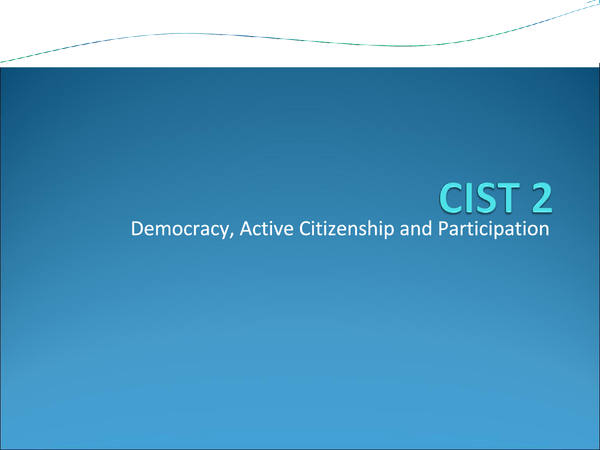 Preview of CIST 2 Revision : Active Citizenship, Democracy and Participation