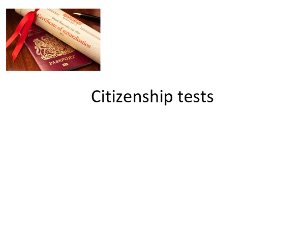 Preview of Citizenship tests: GOV4B
