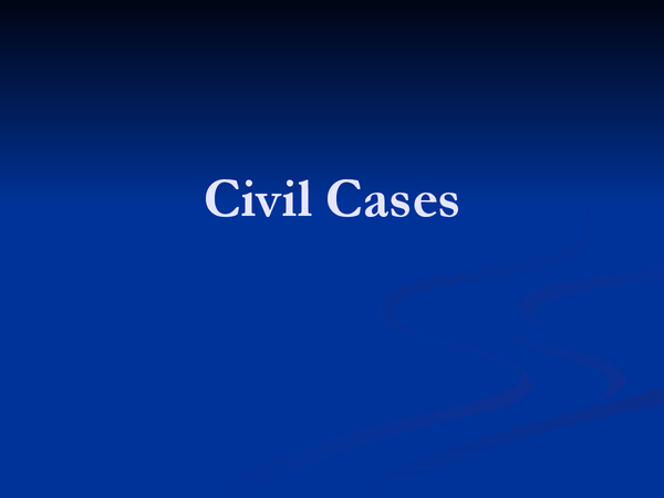 Preview of civil cases