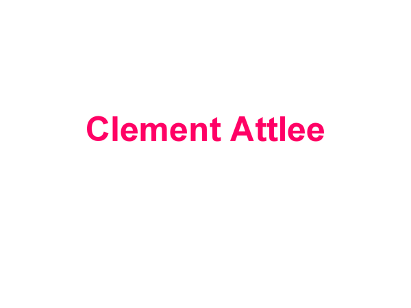 Preview of Clement Attlee government overview