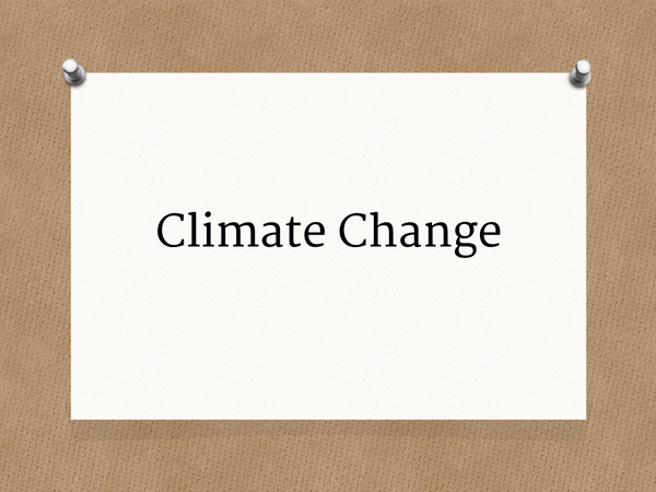 Preview of Climate Change