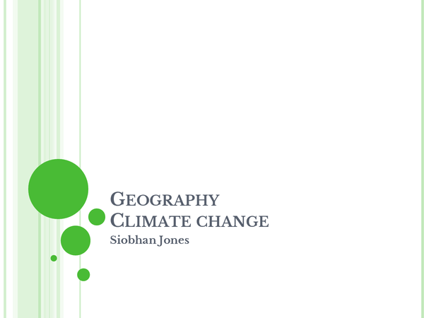 Preview of Climate Change revision Powerpoint- AS geography Edexcel