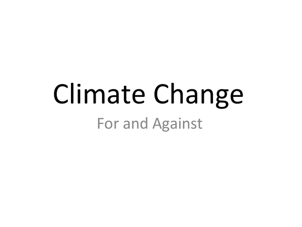 Preview of Climate change - the argument against