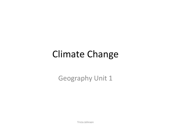 Preview of Climate Change UNIT1