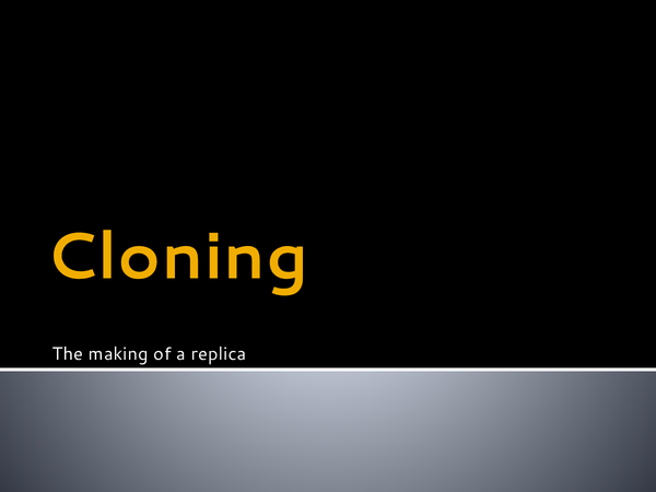 Preview of Cloning