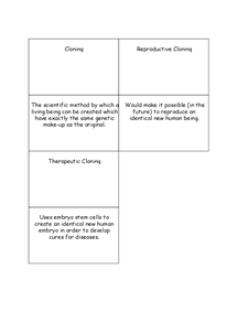 Preview of Cloning Flash Cards