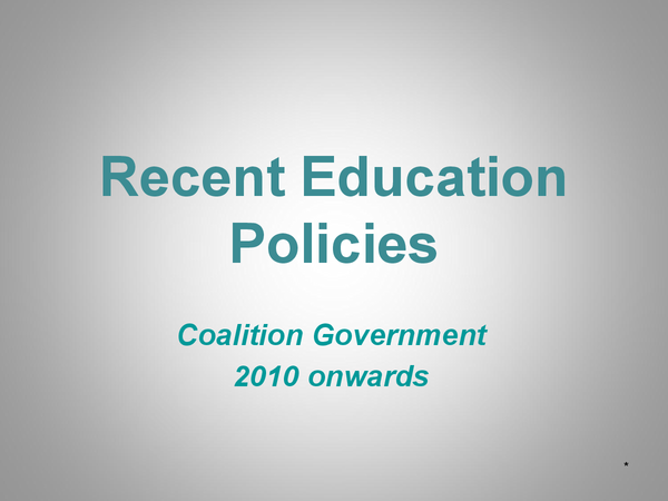 Preview of Coalition Government Education Policies