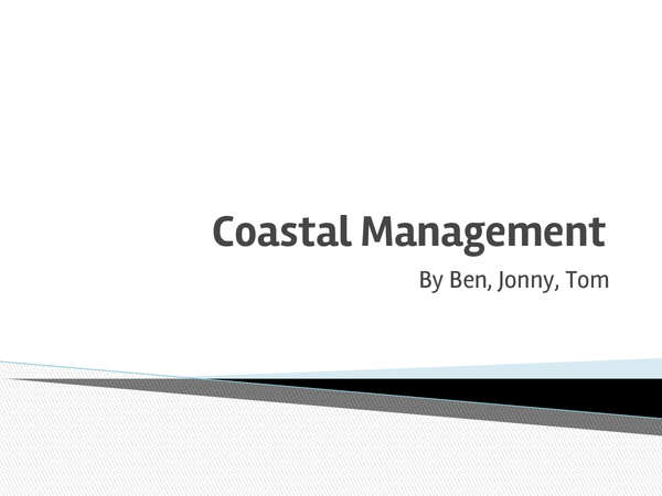 Preview of Coastal Management