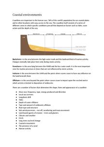 Preview of Coastal environments revision notes