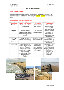 Preview of Coastal Management Revision Booklet