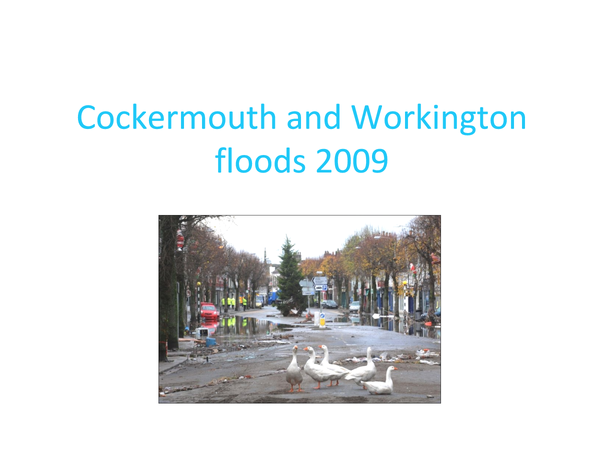Preview of Cockermouth and Workington floods 2009