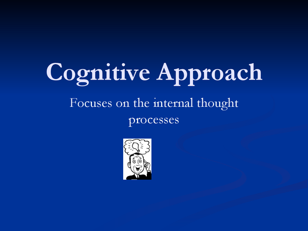 Preview of Cognitive approach