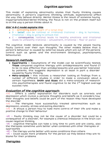 Preview of Cognitive approach of abnormality