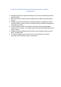 Preview of COGNITIVE DEVELOPMENT - EVALUATION of IP APPROACH