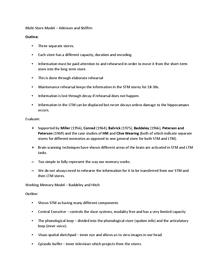 Preview of Cognitive Psychology Revision Unit 1