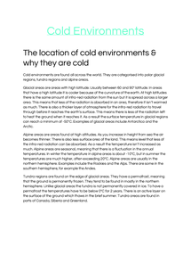 Preview of Cold Environments