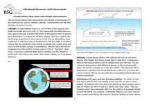 Preview of Cold Environments - Glaciers Notes for Geography