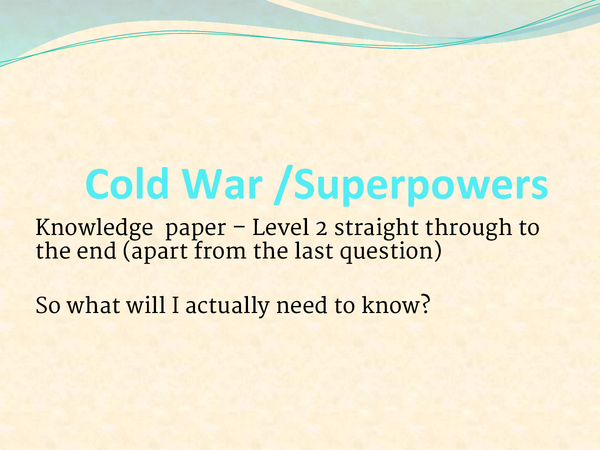 Preview of Cold War Revision