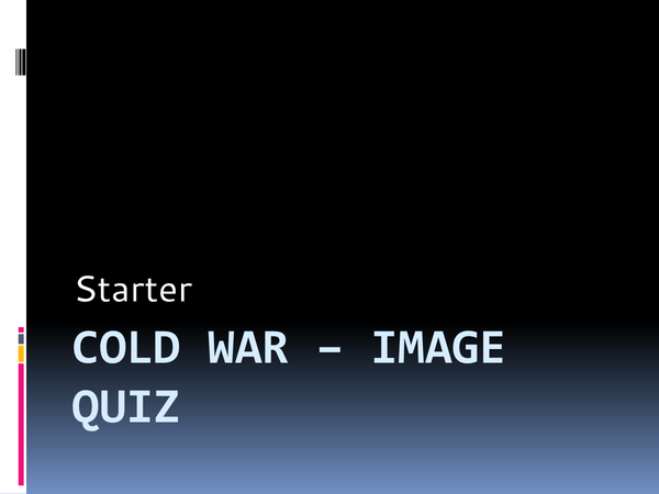 Preview of Cold War - revision starter