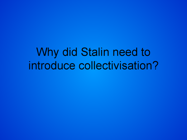 Preview of collectivisation