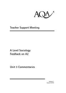 Preview of Commentary on the model Answers, Beliefs in society