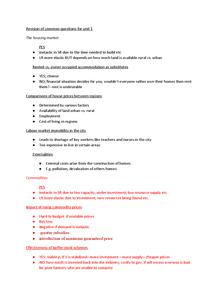Preview of Common questions for unit 1 economics edexcel