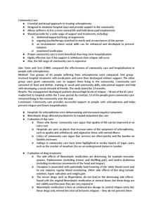 Preview of Community Care - Treatment of Schizophrenia