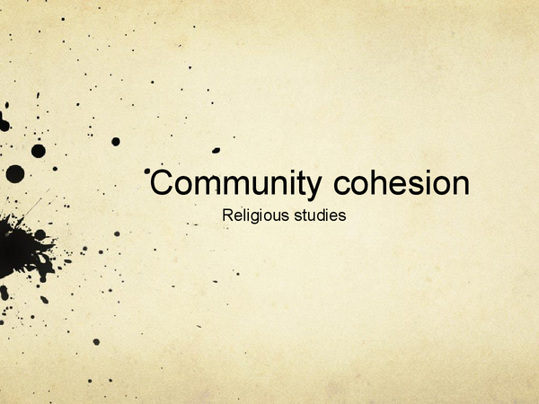 Preview of Community Cohesion