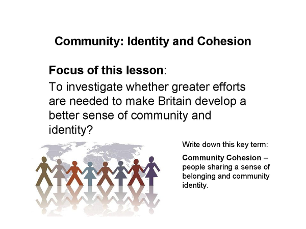 Preview of community cohesion revision ppt