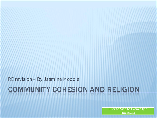 Preview of Community Cohesion/Social Harmony