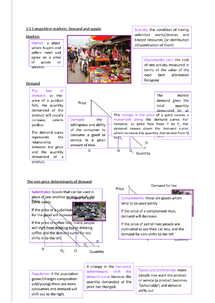 Preview of IB Economics Unit 1:Competitive markets