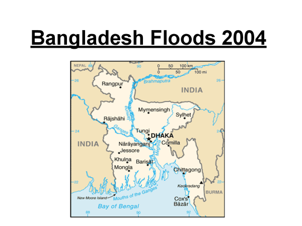 Preview of Complete AS Geography Coastal flooding Case Study - Bangladesh 2004 Floods.