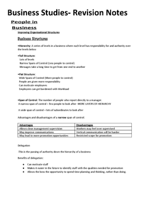 Preview of Complete Business Studies Revision notes AQA BUSS2