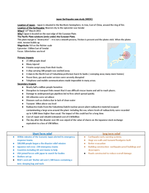 Preview of Complete Case study notes natural hazards GCSE Geography