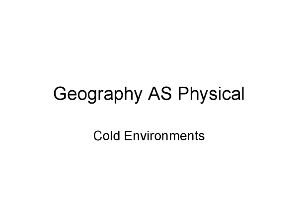 Preview of Complete Cold Environments Revision Pack